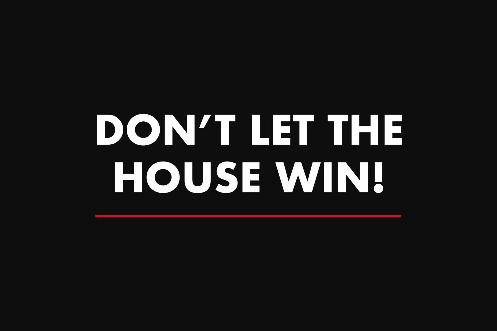 Commissions, Premiums, Smoke & Mirrors - Don't Let the House Win